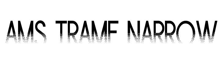 Ams Trame Narrow  les polices de caractères gratuit télécharger