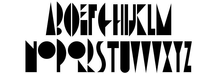 AmsterdamTangram Font UPPERCASE
