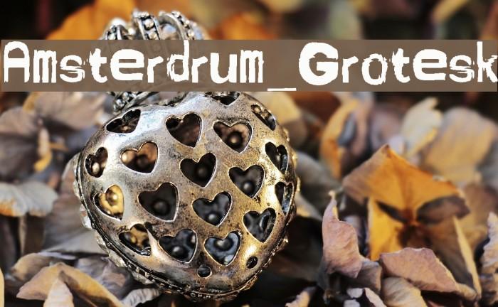Amsterdrum_Grotesk Schriftart examples