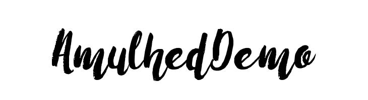 AmulhedDemo Шрифта