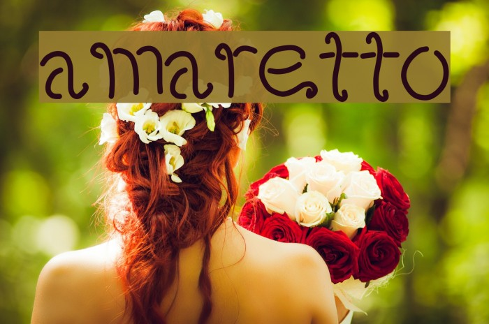 amaretto Font examples