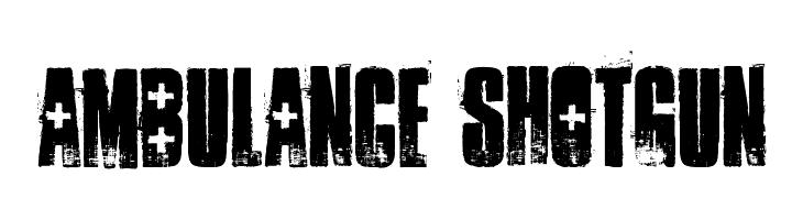 ambulance shotgun  baixar fontes gratis