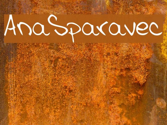 AnaSparavec Font examples