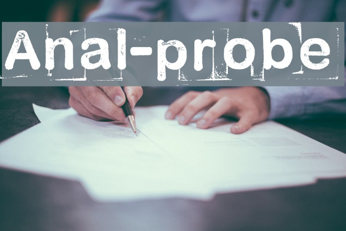 Anal-probe Шрифта examples