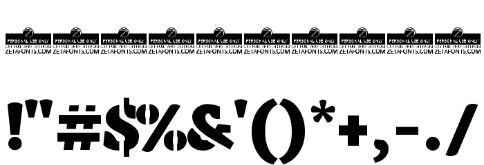 Anaphora Stencil Fat Font OTHER CHARS