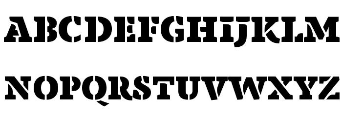Anaphora Stencil Fat Font UPPERCASE