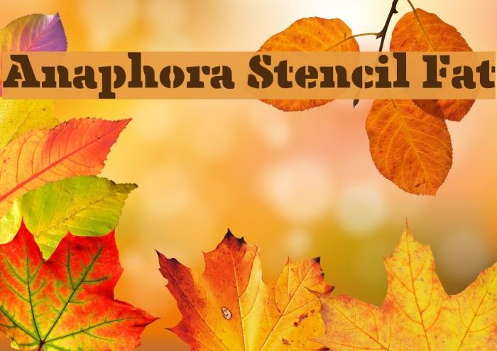 Anaphora Stencil Fat Font examples