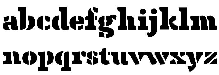 Anaphora Stencil Fat Font LOWERCASE