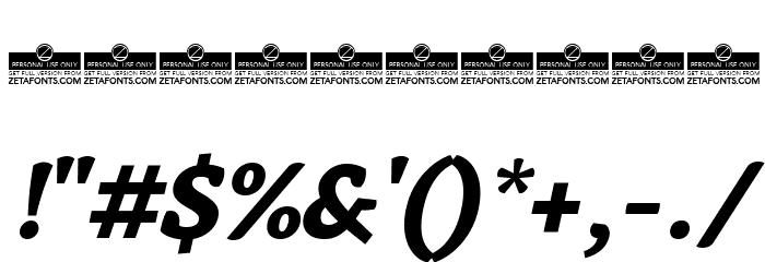 AnaphoraTrial-ExtraBoldItalic Font OTHER CHARS