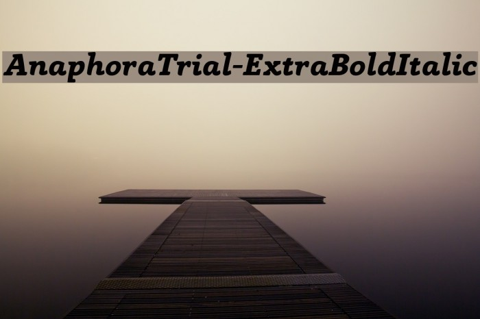 AnaphoraTrial-ExtraBoldItalic Font examples