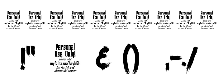 Ancherr Personal Use Font Alte caractere