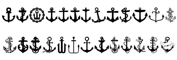 Anchor फ़ॉन्ट अपरकेस