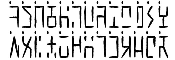 Ancient G Written Fonte MAIÚSCULAS