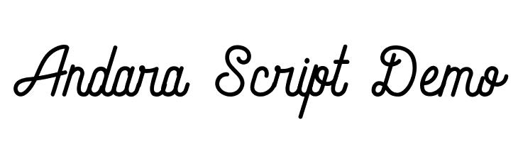 Andara Script Demo Schriftart