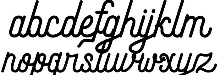 Andara Script Demo Schriftart Kleinbuchstaben