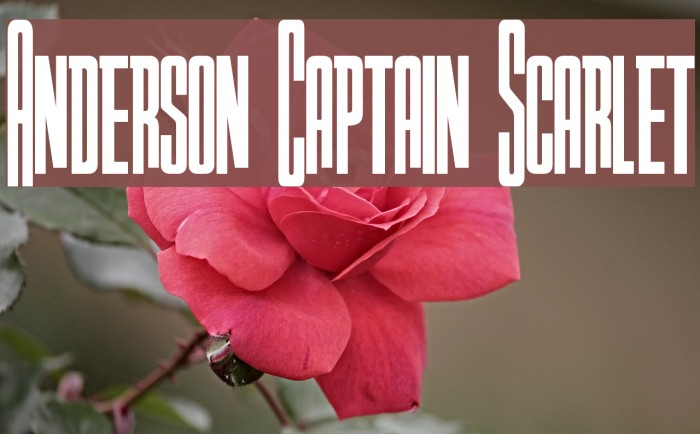 Anderson Captain Scarlet Font examples