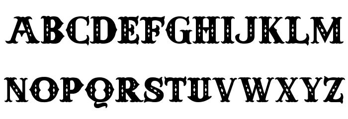 Anderson Four Feather Falls Schriftart Kleinbuchstaben