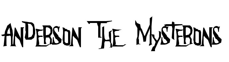 Anderson The Mysterons  Скачать бесплатные шрифты