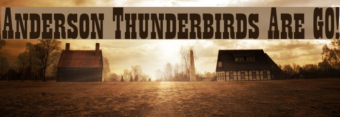 Anderson Thunderbirds Are GO! Schriftart examples