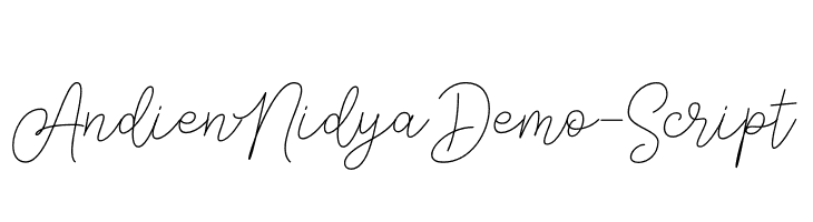 AndienNidyaDemo-Script Font - free fonts download
