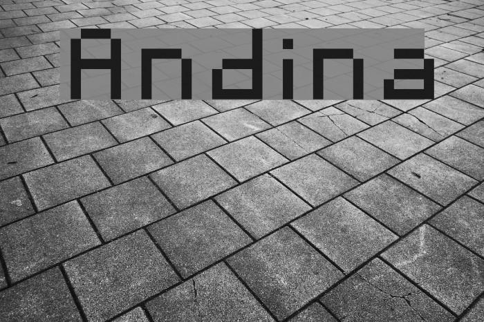 Andina Font examples
