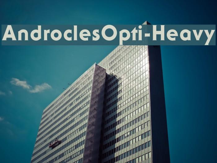 AndroclesOpti-Heavy Шрифта examples