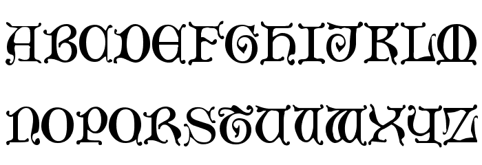 Aneirin Regular Font LOWERCASE