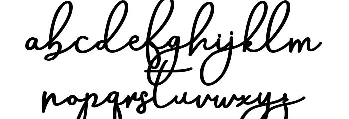 AneishaScriptBold Шрифта строчной
