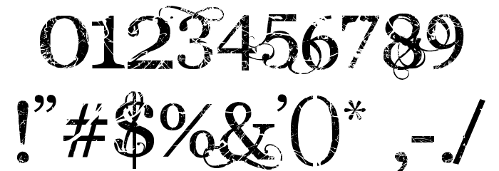 Angelic War Font OTHER CHARS
