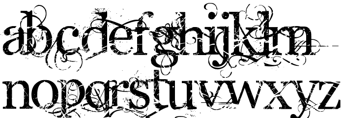 Angelic War Font UPPERCASE