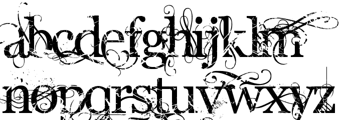 Angelic War Font LOWERCASE
