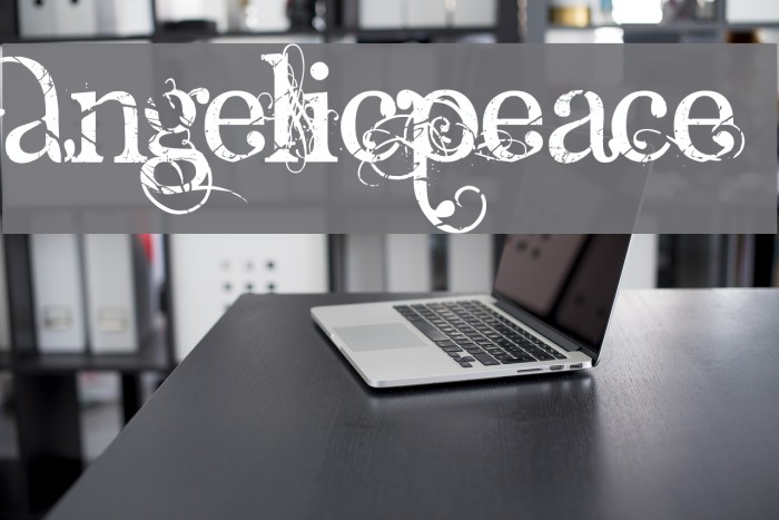 AngelicPeace Font examples