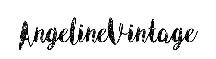 Angeline Vintage  Скачать бесплатные шрифты