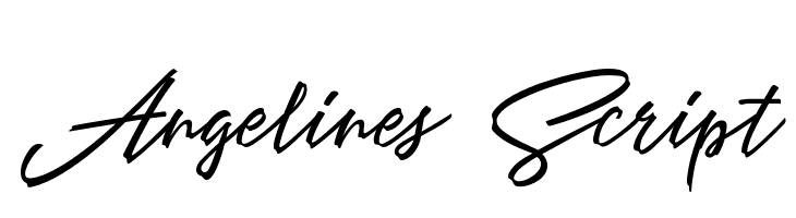 Angelines Script  Free Fonts Download