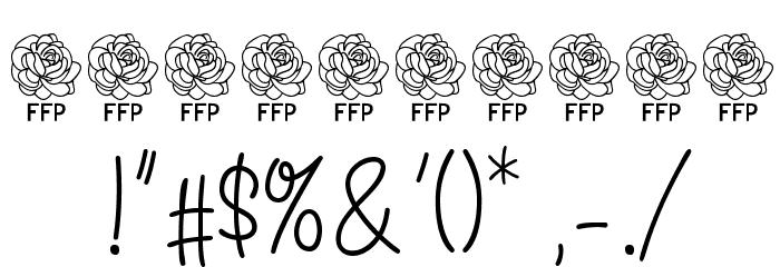 Angelique Rose FFP Font OTHER CHARS