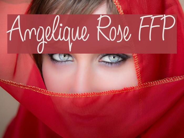 Angelique Rose FFP Font examples