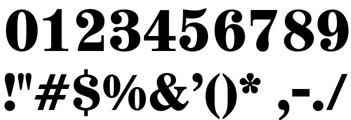 AnglicusOpti-Bold Font OTHER CHARS