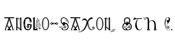 Anglo-Saxon, 8th c. Font