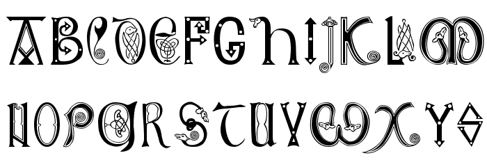 Anglo-Saxon, 8th c. Font LOWERCASE