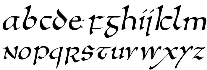 AnglosaxOblique फ़ॉन्ट अपरकेस