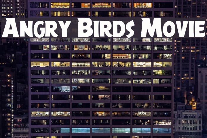 Angry Birds Movie Font examples