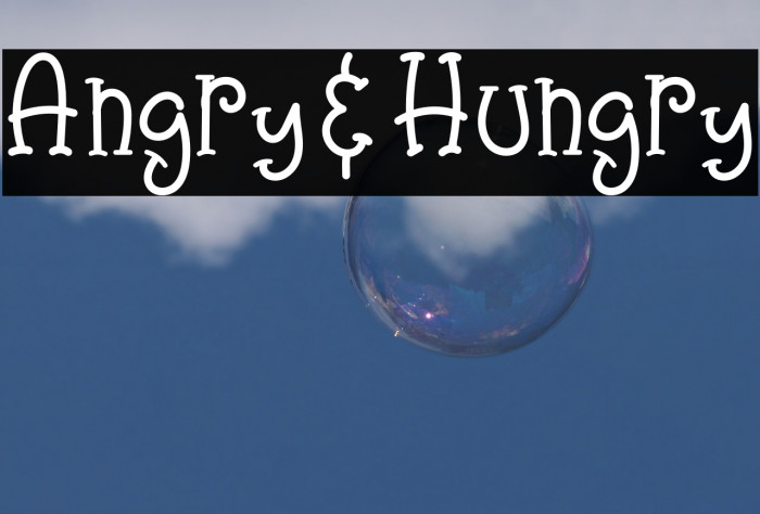 Angry&Hungry Font examples