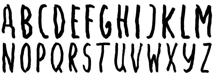 Angst Medium Font LOWERCASE