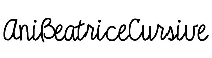 AniBeatriceCursive  フリーフォントのダウンロード