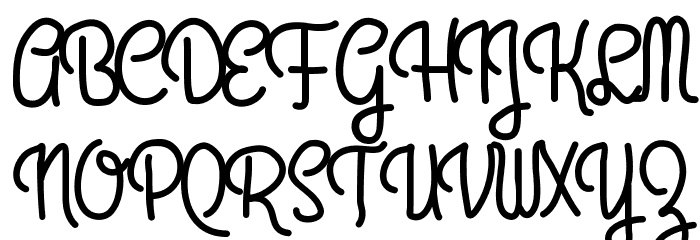 AniPetiteHotel Font UPPERCASE