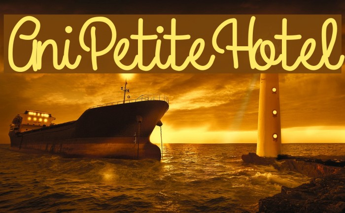 AniPetiteHotel Font examples
