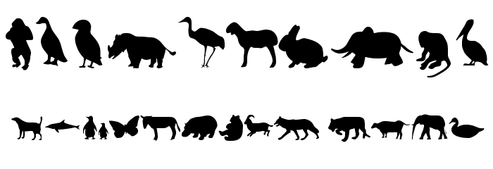 Animals Font OTHER CHARS