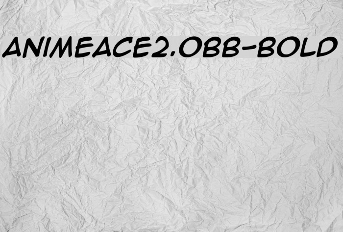AnimeAce2.0BB-Bold Font examples