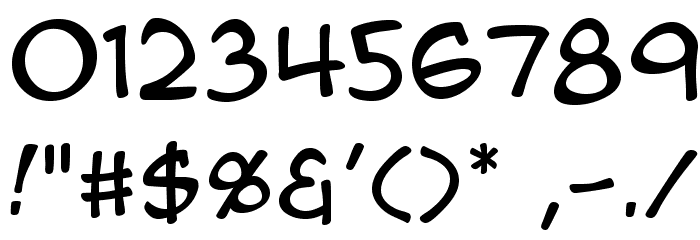 AnimeAce2.0BB Font OTHER CHARS