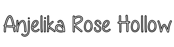 Anjelika Rose Hollow  フリーフォントのダウンロード